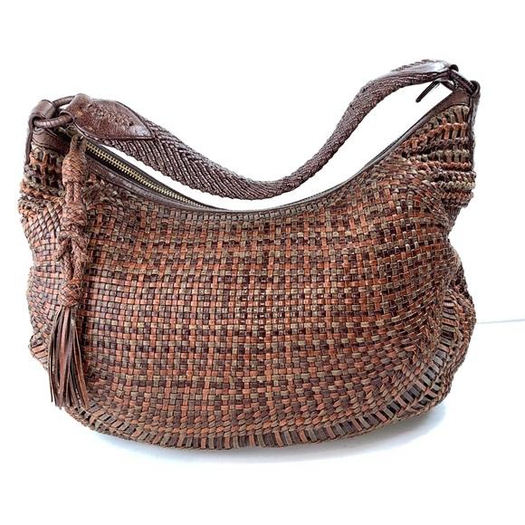 723ddecc6f Cole Haan Bags | Genevieve Woven Leather Hobo Rare Color | Poshmark